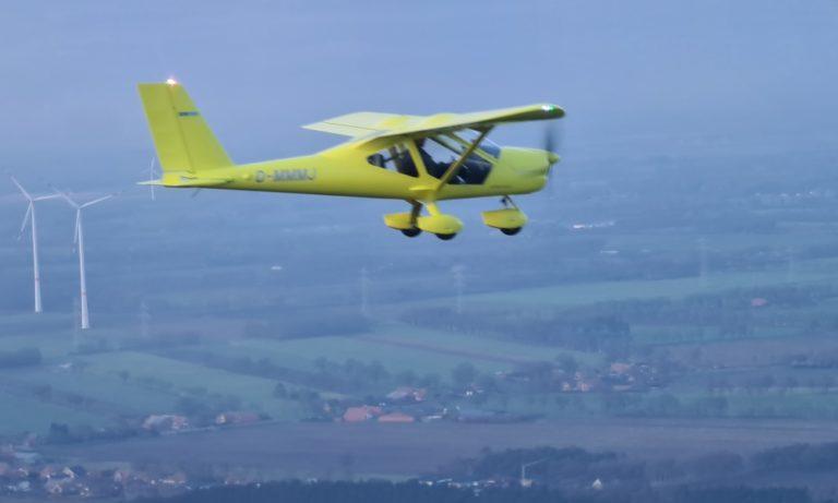 Die A32 in der Luft